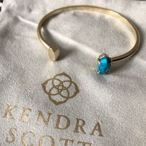 Kendra Scott Gold Cuff - bronzed veined turquoise